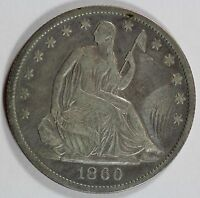 1860 O SEATED HALF DOLLAR XF DETAILS 50C US COIN LOT 903