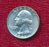 1961 D WASHINGTON SILVER QUARTER BRILLIANT UNCIRCULATED