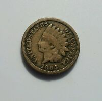 VG 1864 CN INDIAN HEAD CENT PENNY 1C GOOD COPPER NICKEL