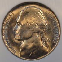 1952 S JEFFERSON NICKEL NGC MS66
