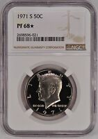 1971 S KENNEDY HALF DOLLAR PROOF NGC PF 68 / PR68STAR. NICE CLEAN COIN
