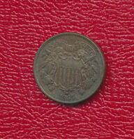 1865 TWO CENT PIECE 2 CENT SUPER  WITH FULL