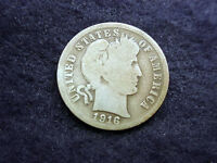 1916 S BARBER DIME GREAT COIN  10