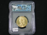2008-D ANDREW JACKSON DOLLAR  ICG-SATIN FINISH 69  15-344