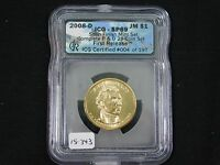 2008-D JAMES MONROE DOLLAR  ICG-SATIN FINISH 69  15-343