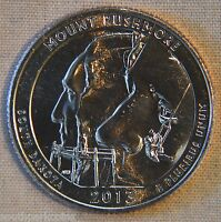 2013 D UNCIRCULATED MOUNT RUSHMORE NATIONAL PARK QUARTER   SINGLE