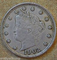 1902 LIBERTY NICKEL - EXTRA FINE