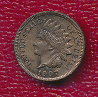 1907 INDIAN HEAD CENT BEAUTIFUL UNCIRCULATED CENT RED/BROWN