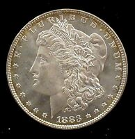 1883 P BRILLIANT UNCIRCULATED BU MORGAN SILVER DOLLAR   MD20