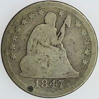 1847 O SEATED QUARTER G 25C US COIN LOT 997