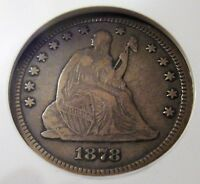 1878 CC 25 CENT NGC SLABBED VG 10 SEATED LIBERTY QUARTER DOLLAR FROM CARSON CITY