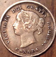 1900 CANADA SILVER 5 CENTS IN GOOD CONDITION