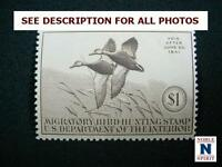 NOBLESPIRIT NO RESERVE TH1 EXCELLENT US RW7 DUCK STAMP MH = $105 CV, VF