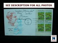 NOBLESPIRIT NO RESERVE {3970} 1969 GRANDMA MOSES FDC SIGNED BY NORMAN ROCKWELL