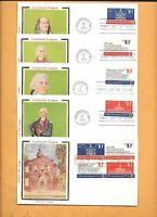 FDC 1974 FIRST DAY 1543-46 CONTINENTAL CONGRESS SET OF 4  BLOCK COLORANO SILK