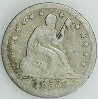 1853 O SEATED QUARTER GOOD G 25C US COIN LOT 1693