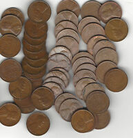 1941 D LINCOLN WHEAT CENT NICE SOLID DATE ROLL EXTRA FINE XF