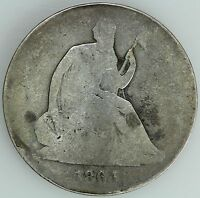 1864 SEATED HALF DOLLAR G DETAILS 50C US COIN LOT 2050