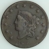 1830 LARGE CENT XF DETAILS 1C US COIN LOT 2049