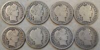 1912,1912 D,1912 S,1913,1914 S,1915 S,1916 1916 S BARBER DIMES AS PICTURED