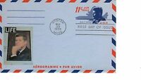 11-CENT JFK KENNEDY AEROGRAMME FDC FIRST DAY 1965