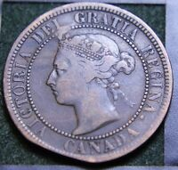 570 1888 CANADIAN COINS LARGE CENT QUEEN VICTORIA