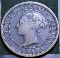 564 1888 CANADIAN COINS LARGE CENT QUEEN VICTORIA