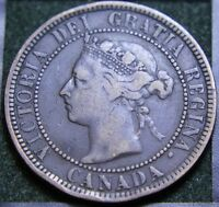 566 1888 CANADIAN COINS LARGE CENT QUEEN VICTORIA