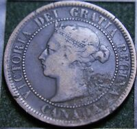 567 1888 CANADIAN COINS LARGE CENT QUEEN VICTORIA
