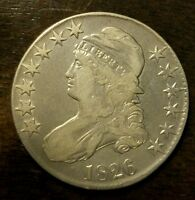1826 50C OVERTON 104A CAPPED BUST HALF DOLLAR