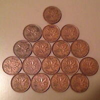 COMPLETE SET OF CANADA KING GEORGE VI PENNIES 1937   1952   17 DIFFERENT DATES