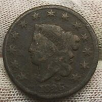 1826 LARGE CENT CORONET TYPE X714 UNITED STATES COIN CENT COPPER PENNY 1