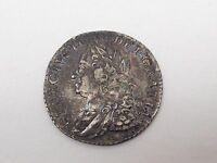 1758 GREAT BRITAIN KING GEORGE II 1 SHILLING SILVER COIN