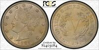 1883 NO CENTS.  PCGS MS 63  GEM BU  WITH A HINT OF COLOR  TONE TONED