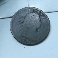 1797 DRAPED BUST LARGE CENT // VG-GOOD // LC740