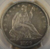 1844 LIBERTY SEATED HALF DOLLAR PCGS VF35 NICE ORIGINAL COIN
