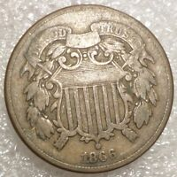 1866 TWO CENT PIECE BETTER GRADE -SEE PICS, COMBINED SHIPPING