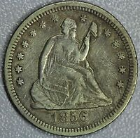 1856 O SEATED QUARTER XF DETAILS 25C US COIN LOT 769