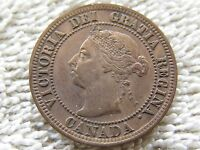 REALLY NICE 1891 LARGE DATE CANADIAN LARGE CENT NICE NATURAL COLOR & DETAIL