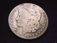 1893-O MORGAN DOLLAR OUTSTANDING KEY DATE DOLLAR  100