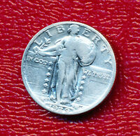 1929 STANDING LIBERTY SILVER QUARTER NICE CIRCULATED COIN