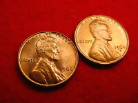 1960 P & D SMALL DATE LINCOLN CENTS 2 GREAT BU COINS   220