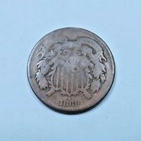 1 1869 TWO CENT PIECE 2 CENT // GOOD-AG // 1 COIN