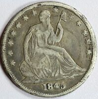 1845 O SEATED HALF DOLLAR VF DETAILS 50C US COIN LOT 768