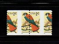 US 3044 KESTREL, BIRD: PERF. SHIFT COIL PAIR. EFO/ERROR STAMPS. MNH