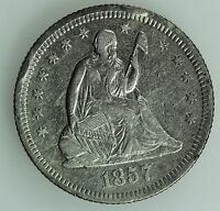 1857 O SEATED LIBERTY QUARTER XF 25C US COIN LOT 2208