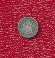 1862 SEATED LIBERTY SILVER HALF DIME NICE CIRCULATED HALF DIME