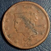 1841 LARGE CENT VG DETAILS FILLER TYPE COIN ASK FOR COMBINED $2.95 S&H 1C09