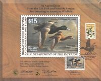 1999 - FEDERAL DUCK HUNTING POSTER - WITH CANCELED STAMP - SCOTT RW66, 3314