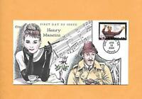 US FDC 2004 FIRST DAY COVER 3839 HENRY MANCINI &  AUDREY HEPBURN COLLINS CACHET